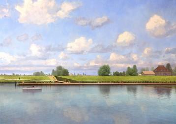 Entree UNESCO werelderfgoed Kinderdijk